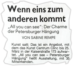 Presse Petersburger Hängung